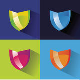 Safety colored vector logo. On white Royalty Free Stock Images