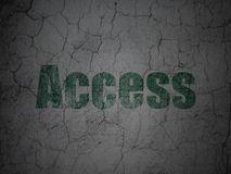 Safety concept: Access on grunge wall background Stock Photography