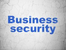 Safety concept: Business Security on wall background Royalty Free Stock Photo