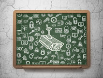 Safety concept: Cctv Camera on School Board Royalty Free Stock Photography