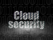 Safety concept: Cloud Security in grunge dark room Royalty Free Stock Photo