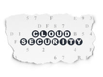 Safety concept: Cloud Security on Torn Paper Royalty Free Stock Photography