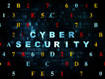 Safety concept: Cyber Security on Digital Stock Photo