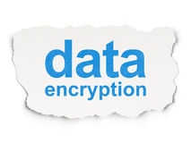 Safety concept: Data Encryption on Paper Royalty Free Stock Photo