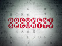 Safety concept: Document Security on Digital Paper Stock Photo