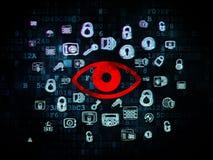 Safety concept: Eye on Digital background Stock Photography