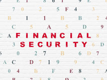 Safety concept: Financial Security on wall. Safety concept: Painted red text Financial Security on White Brick wall background with Hexadecimal Code, 3d render Stock Photos