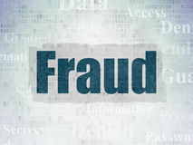 Safety concept: Fraud on Digital Paper background Royalty Free Stock Images