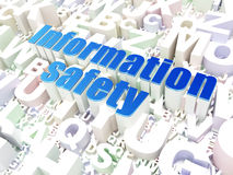 Safety concept: Information Safety on alphabet Stock Image