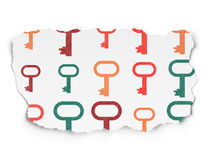 Safety concept: Key icons on Torn Paper background Royalty Free Stock Photography