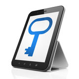 Safety concept: Key on tablet pc computer Stock Images