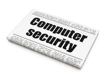 Safety concept: newspaper headline Computer Security. On White background, 3D rendering Stock Images