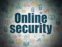 Safety concept: Online Security on Digital Paper Stock Image