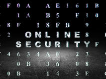 Safety concept: Online Security in grunge dark Stock Images