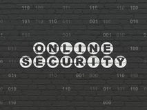 Safety concept: Online Security on wall background Stock Images