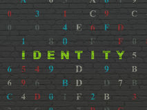 Safety concept: Identity on wall background Stock Image
