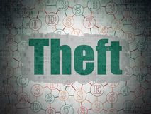 Safety concept: Theft on Digital Data Paper background Stock Images