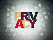 Safety concept: Privacy on Digital Data Paper background Stock Images