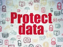 Safety concept: Protect Data on Digital Data Paper background Stock Photos