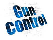 Safety concept: Gun Control on Digital background Stock Photography