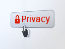 Safety concept: Privacy and Closed Padlock on Stock Image