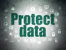 Safety concept: Protect Data on Digital Data Paper background Royalty Free Stock Photography