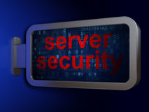 Safety concept: Server Security on billboard Royalty Free Stock Images