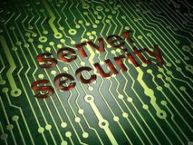 Safety concept: Server Security on circuit board Royalty Free Stock Images