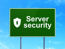Safety concept: Server Security and Shield With Keyhole Royalty Free Stock Image