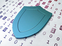 Safety concept: Shield on Binary Code background. Safety concept:  Shield on Binary Code background, 3d render Stock Image