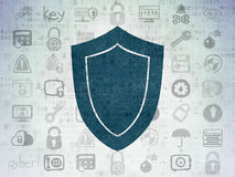 Safety concept: Shield on Digital Paper background Royalty Free Stock Photography