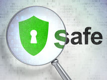 Safety concept: Shield With Keyhole and Safe with Royalty Free Stock Photos
