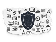 Safety concept: Shield on Torn Paper background Royalty Free Stock Photography