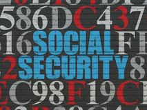 Safety concept: Social Security on wall background Stock Image