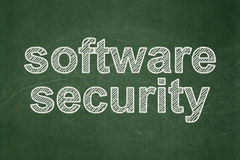 Safety concept: Software Security on chalkboard Stock Images