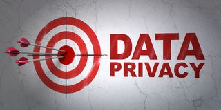 Safety concept: target and Data Privacy on wall background Stock Photography