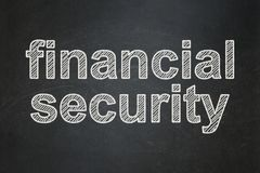 Safety concept: Financial Security on chalkboard background. Safety concept: text Financial Security on Black chalkboard background Royalty Free Stock Images