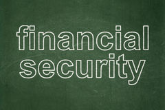 Safety concept: Financial Security on chalkboard background Stock Photo