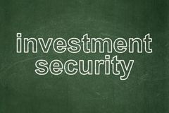Safety concept: Investment Security on chalkboard background. Safety concept: text Investment Security on Green chalkboard background Stock Images
