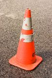 Safety Cone with Sharp Background. Orange road safety cone with sharp background Royalty Free Stock Images