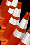 Safety cones. Bright and colorful traffic safety cones Stock Photography