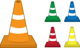 Safety Cones Royalty Free Stock Photography