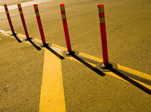 Safety Cones. A set of safety cones at a crosswalk Royalty Free Stock Image