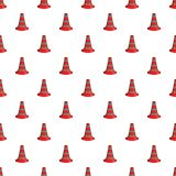 Safety cones pattern, cartoon style Royalty Free Stock Photo