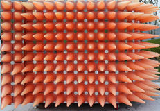 Safety Cones pattern Royalty Free Stock Image