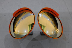 Safety Convex Mirrors Stock Photo