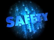 Safety on Dark Digital Background. Stock Photo