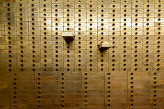 Safety Deposit Box. Old Safe Deposit Boxes with two open royalty free stock photos