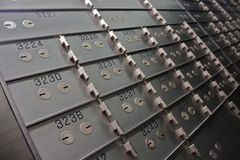 Safety Deposit Boxes Stock Image