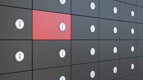 Safety deposit boxes Royalty Free Stock Photos